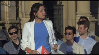 """Arrimadas pide el voto para Cs porque es la """"oportunidad de parar al sanchismo"""""""