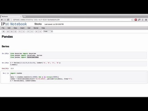 iPython R Rapid Miner: Introduction to Pandas and Vincent
