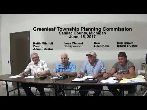 Clip June 15, 2017 Microphone fuss?  Cass City, Greenleaf Township Planning Commission