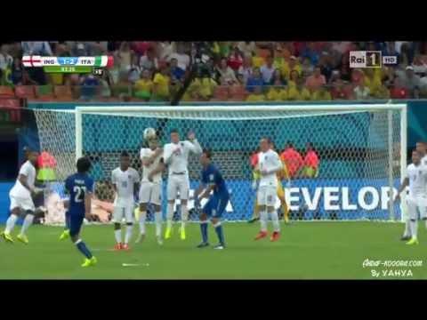 Pirlo INCREDIBLE Free Kick HD  Italy vs England @ World Cup 2014