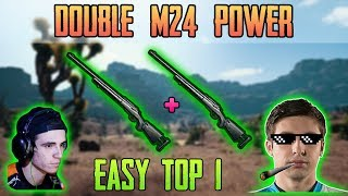 DOUBLE M24 POWER - Shroud and Just9n win DUO FPP [May-15] - PUBG HIGHLIGHTS TOP 1 #110