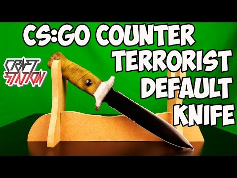 How To Make Counter Terrorist Default Knife From CS:GO DIY With Templates