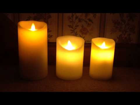 Comparison of Luminara, Dancing Flame and Glow Dancers candles.