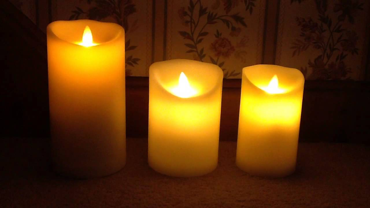 comparison of luminara dancing flame and glow dancers candles youtube