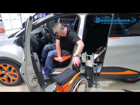 Rutschbrett bei behindertengerechten Fahrzeugumbauten