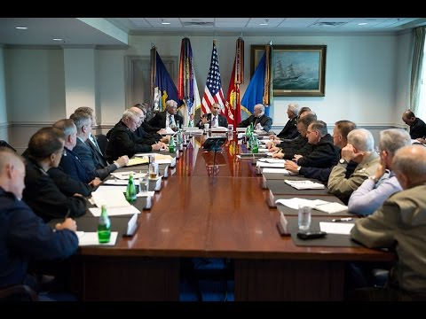 President Obama Meets with the Pentagon About ISIL