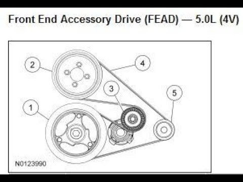 DIY 20092014 V8 50 Ford F150 How to Replace Both Serpentine Belts  YouTube