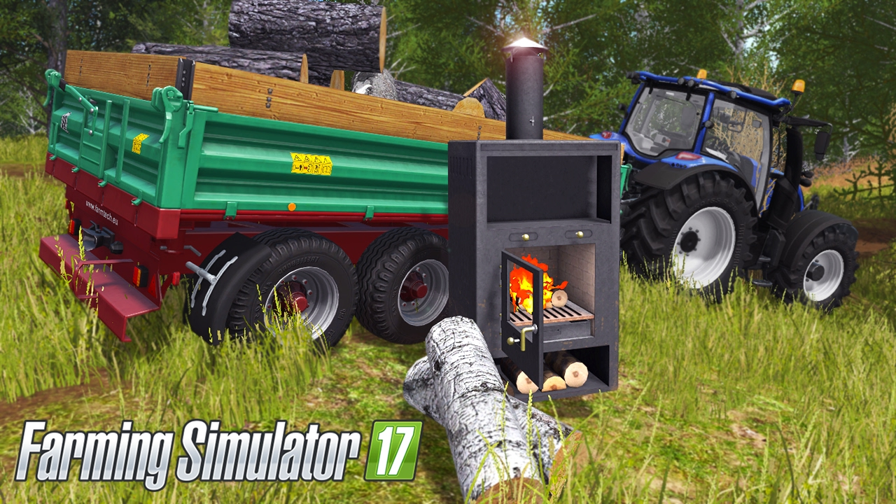 Fireplace Simulator Part - 27: Farming Simulator 2017 - Placeable Fireplace U0026 Valtra N Series Transporting  Wood (WITH COMMENTARY!) - YouTube