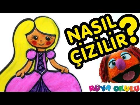 Rapunzel Nasıl çizilir Prenses 2 Resim çizme Rüya Okulu