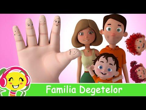 Familia Degetelor  Muzica pentru copii si bebelusi | CanteceGradinita – Cantece pentru copii in limba romana