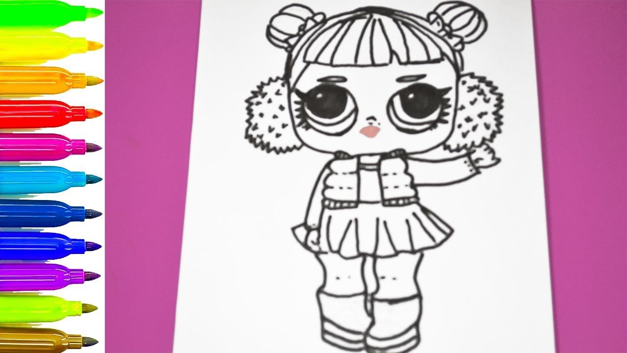 Lol surprise doll coloring page ❤ coloring pages lol surprise