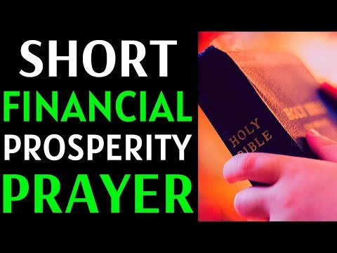 Short Prayer For Financial Prosperity And Blessings - Prayer for God's Favor And Increase