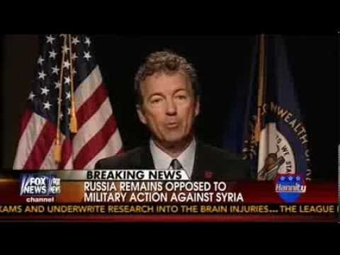 Rand Paul Vows: 'I Will Do Everything I Can' to Prevent Obama From Striking Syria