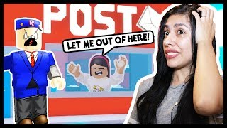 MY BOYFRIEND GOT ME TRAPPED AT THE POST OFFICE! - Roblox Roleplay