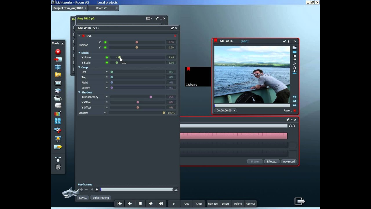 How to create a still image zoom in Lightworks video ...