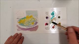 No 24 Testing #Qor #Aquarell #Weintrauben #Aquarell #watercolor #Zeichenpapier #Zeichnung #drawing #