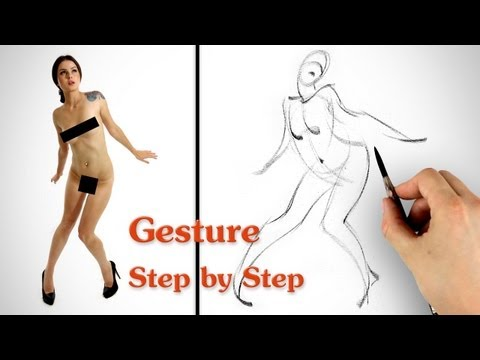 How to Draw Gesture - Step by Step