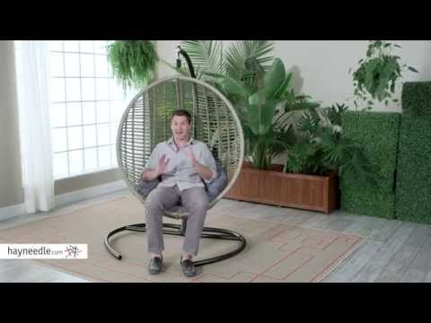 Island Bay Resin Wicker Kambree Rib Hanging Egg Chair With Cushion    Product Review Video