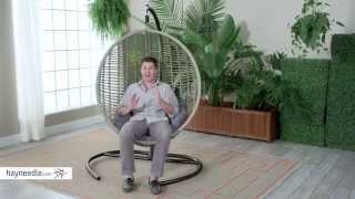 Island Bay Resin Wicker Kambree Rib Hanging Egg Chair with Cushion - Product Review Video