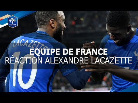 Equipe de France : réaction Alexandre Lacazette, Allemagne-France (2-2) I FFF 2017