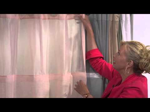 Hookless Luxe Stripe 3 in 1 Shower Curtain with Mary Beth Roe