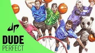 Speed Drawing Trick Shot Masters Dude Perfect!