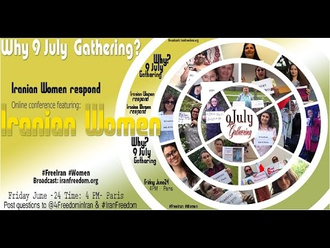 online conference- why July 9th gathering? Iranian women respond
