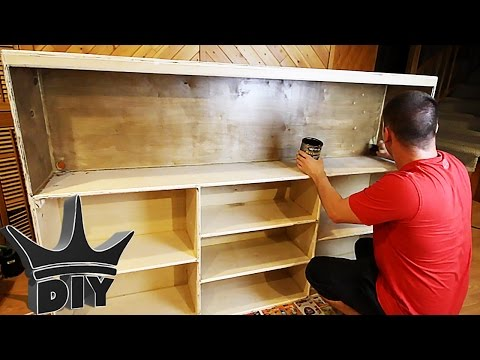 HOW TO: Build an aquarium stand bookshelf - THE OFFICE TANK BUILD!!