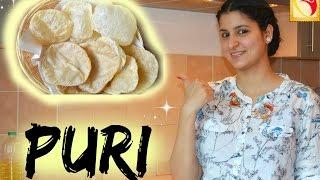 Puri - indisches Brot - indisch Kochen