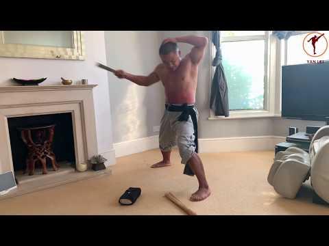 Shaolin Iron Body Training: Brick, metal brush and bamboo