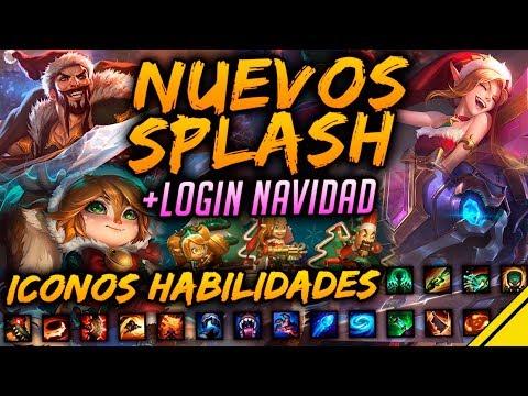 Nuevos SPLASH ART de NAVIDAD y Hextech, LOGIN y nuevos ICONOS | Noticias League Of Legends LoL