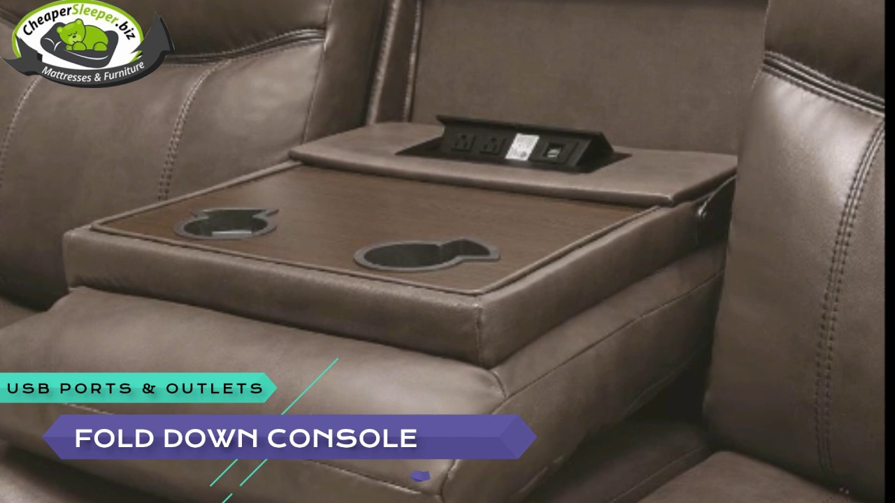 Coaster Brown Leather Reclining Sofa