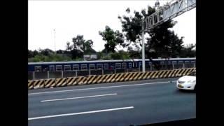 PNR Kiha 52 Blue spotted from South Luzon Expressway (karerahan ng bus at tren :D )