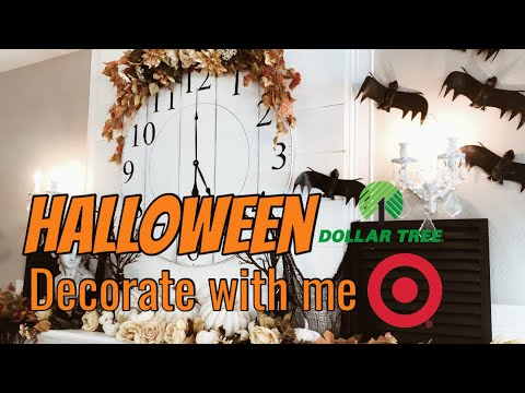 HALLOWEEN 2019 | DECORATE WITH ME | DOLLAR TREE | TARGET