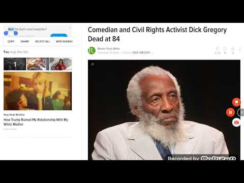 Dick Gregory:  A Spiritual Brother, Comedian And Activist Gone At 84