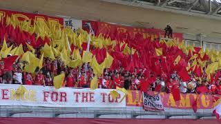 赤黄のフラッグが印象的でした 明治安田生命J1リーグ 2018 第9節 ヴィッ...