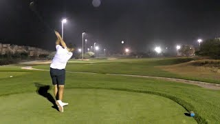 NIGHT GOLF VLOG | Al Hamra Golf Club | Part 2