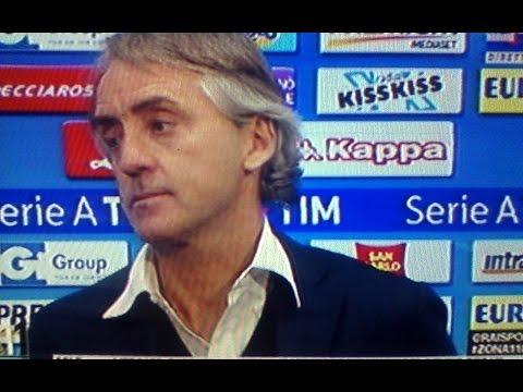 Mancini polemica pesante con Sarri a fine partita Napoli Inter 0 2