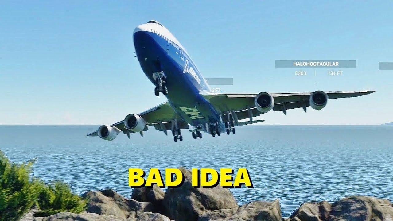 Airliners vs. World's SHORTEST Runway in Microsoft Flight Simulator (Multiplayer)
