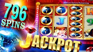 BIG JACKPOT!!! 796 SPINS on Quest for Riches - 2c Konami Video Slots