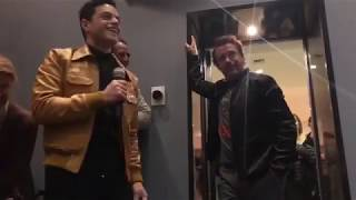 Robert Downey Jr congratulates Rami Malek for his oscar win