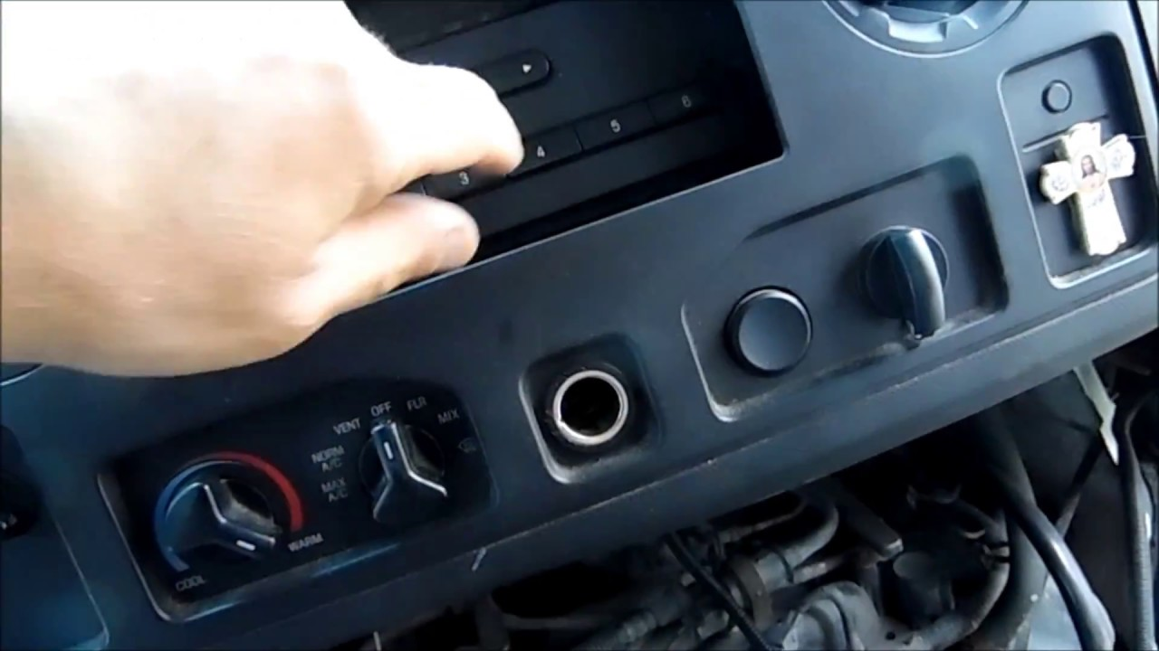 hight resolution of how to remove stereo in 2010 ford econoline 2008 2014 e series