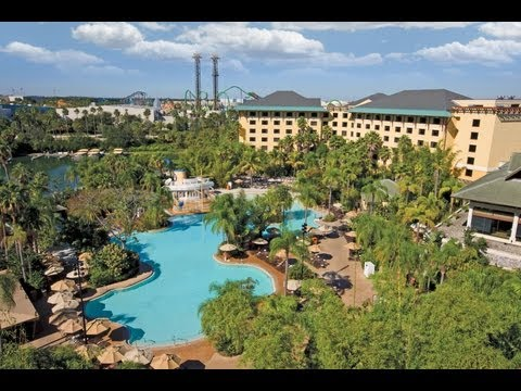 Universal Orlando Loews Royal Pacific Hotel 2013 Tour and Overview HD
