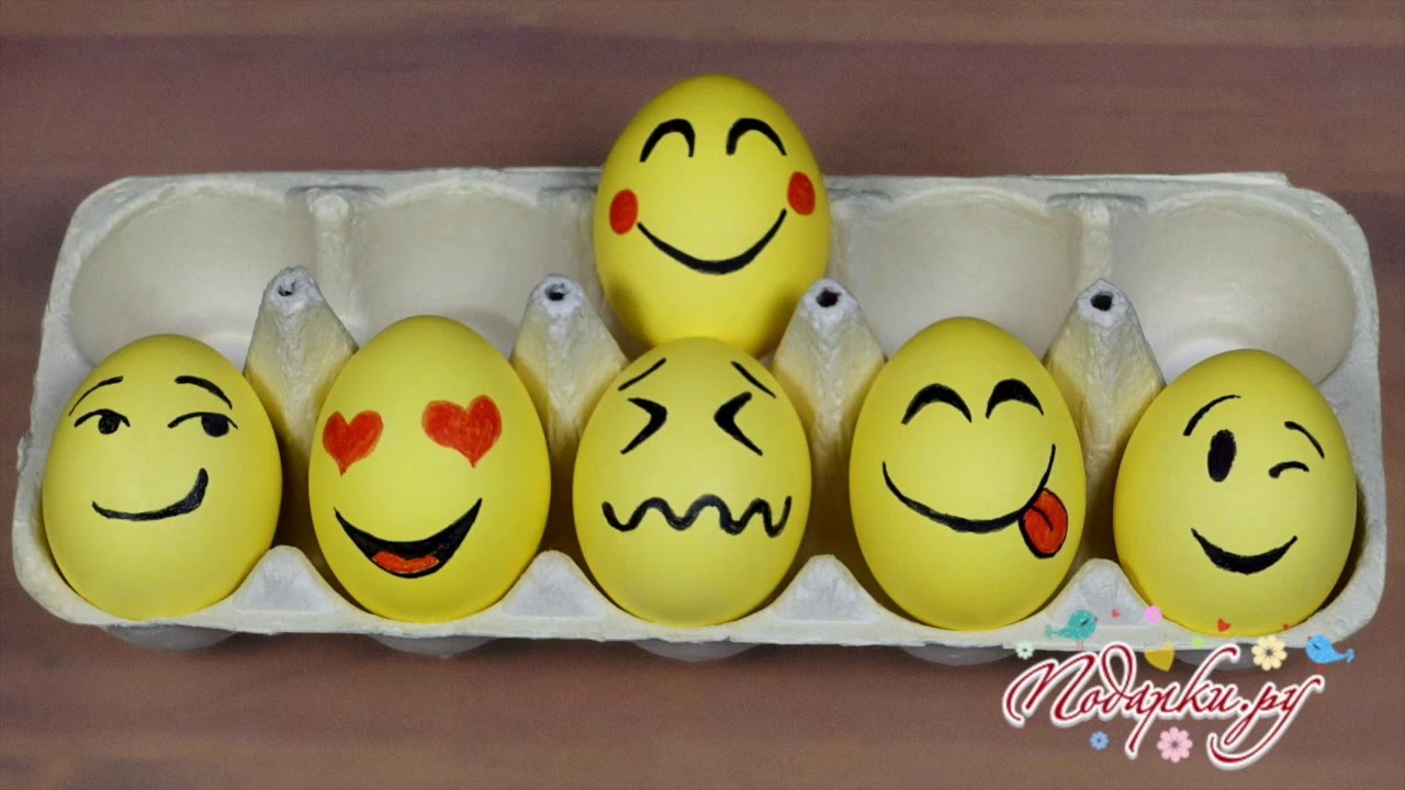 Яйца-смайлики на Пасху. Мастер-классы на Подарки.ру - YouTube