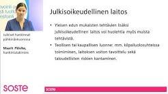 Julkiset hankinnat pähkinänkuoressa, Maarit Päivike, SOSTEn verkkoluento
