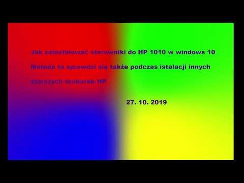 Jak Zainstalować Drukarkę HP1010 Na Windows10