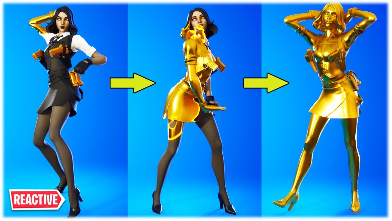 Fortnite Ventura Thicc Fortnite Thicc Reactive Marigold Skin Female Midas Showcased With Dance Emotes Youtube