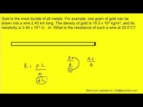 Gold is the most ductile of all metals. For example, one gram of gold can be drawn into a wire 2.40