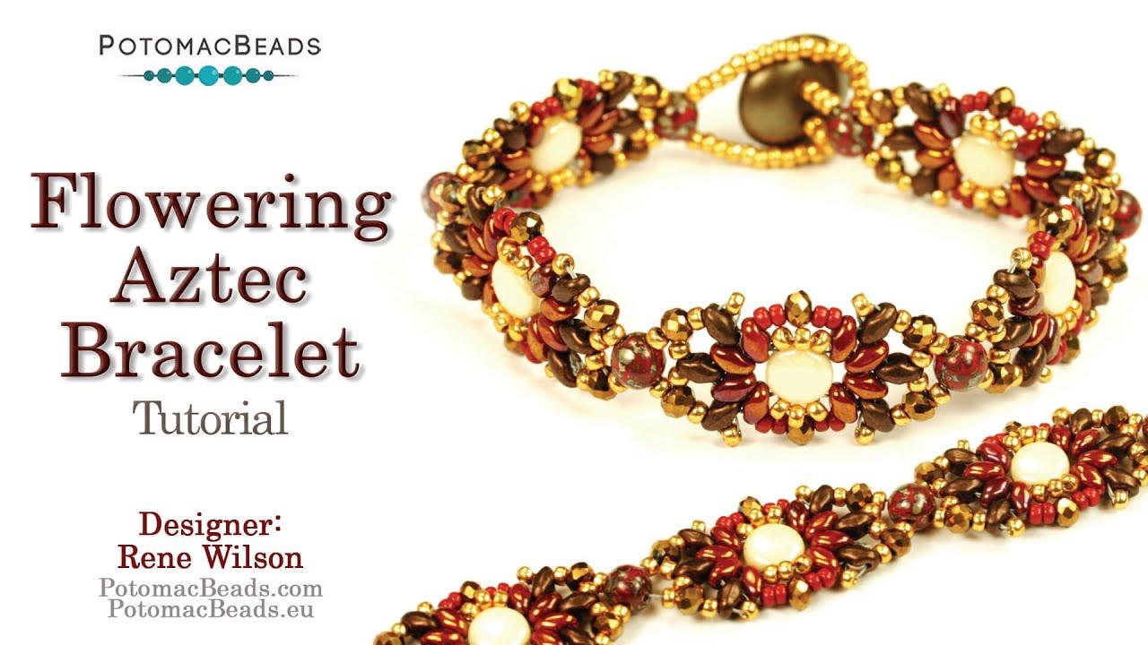 Flowering aztec bracelet youtube for Rj jewelry loan company