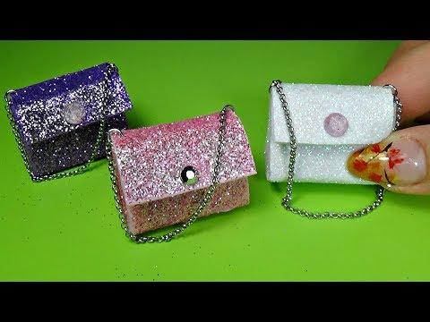 Miniature bags diy │ Easy miniature bag tutorial │ Doll Stuff
